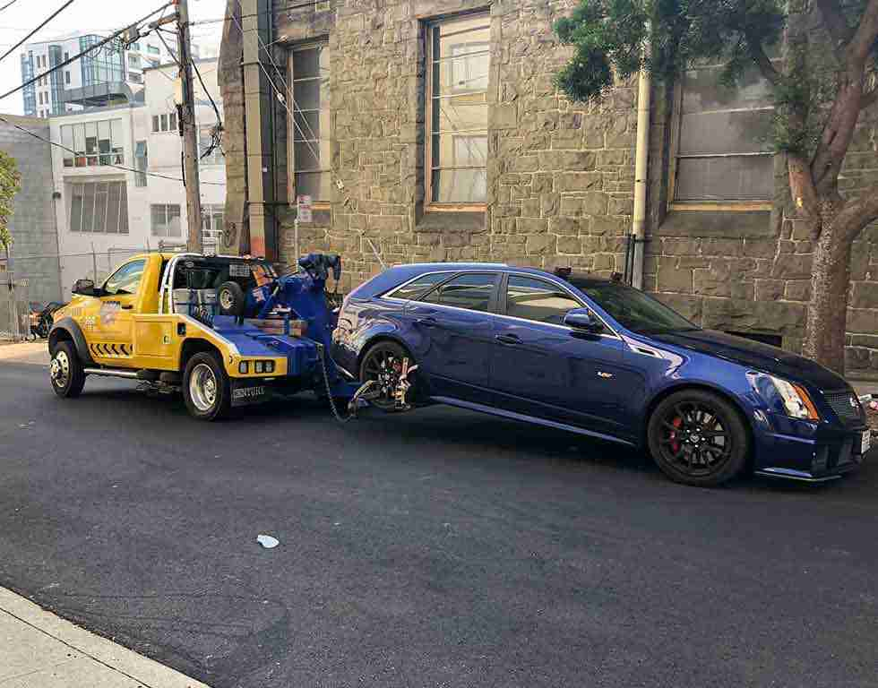 Towing a cadillac car in San Francisco CA | Auto Towing | 415-333-5559